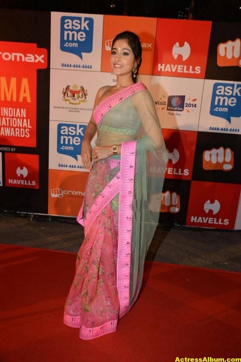 Regina Cassandra Hot Stills In Green Designer Saree (2)