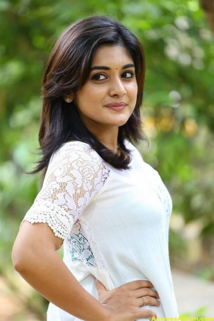 Telugu Actress Niveda Thomas Photos In White Dress 2