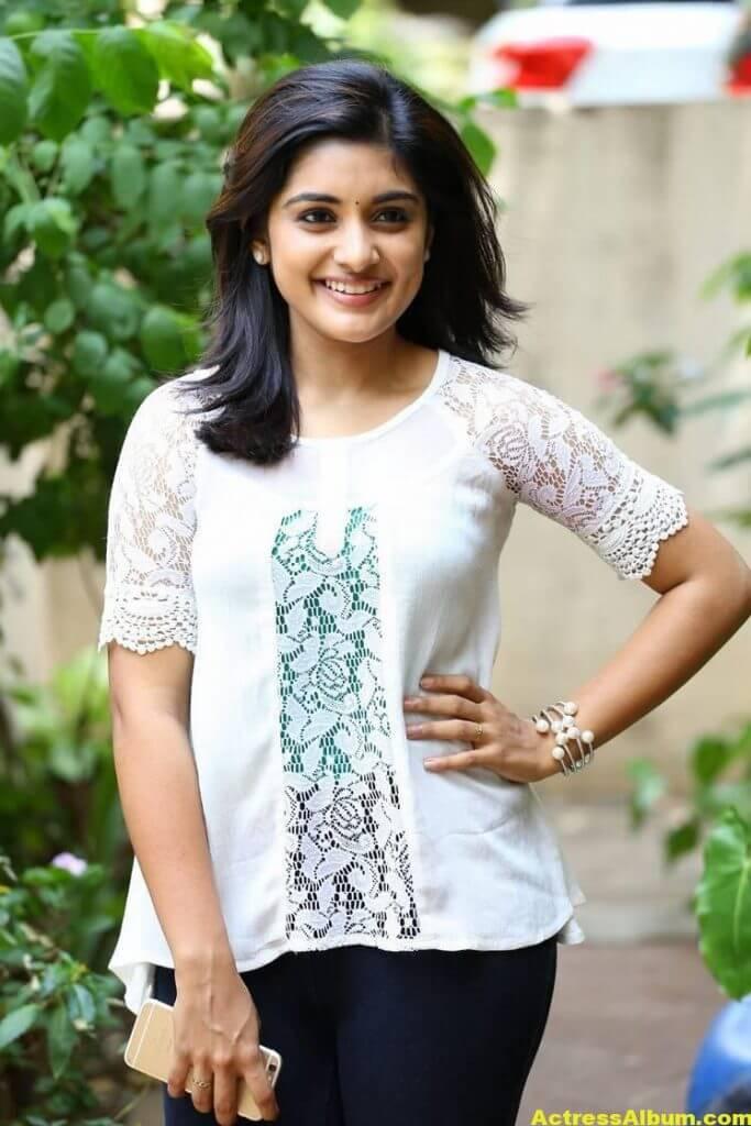 Telugu Actress Niveda Thomas Photos In White Dress 3
