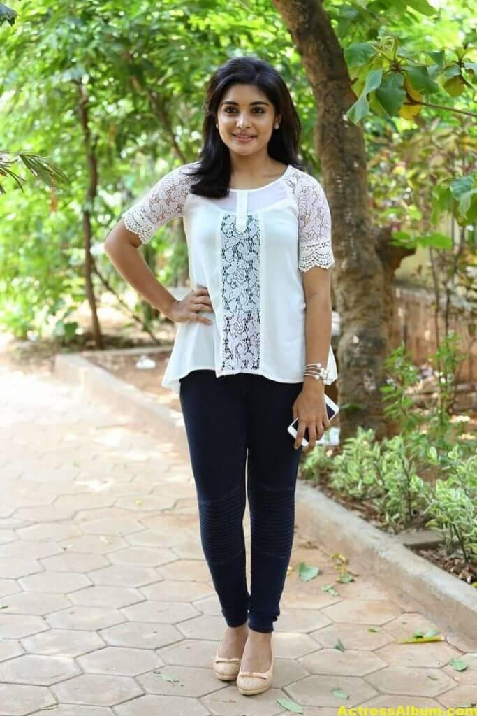 Telugu Actress Niveda Thomas Photos In White Dress 4