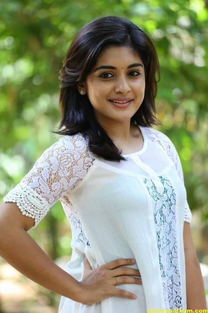 Telugu Actress Niveda Thomas Photos In White Dress 5