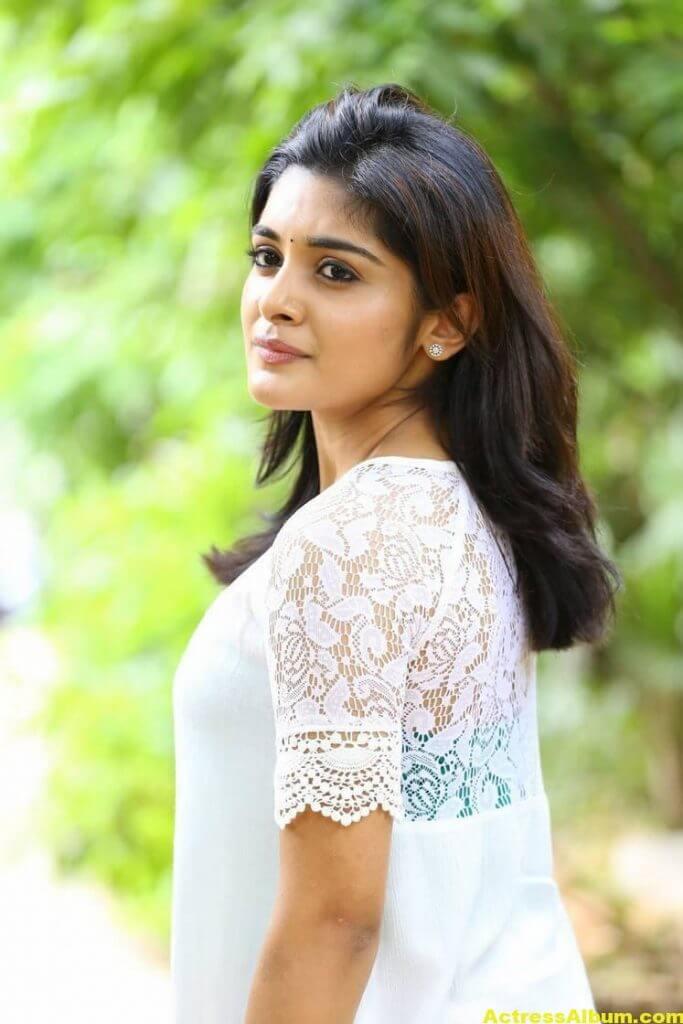 Telugu Actress Niveda Thomas Photos In White Dress 6