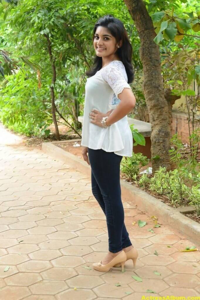 Telugu Actress Niveda Thomas Photos In White Dress 7