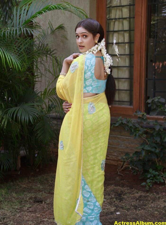 Actress Aditi Agarwal Hot Photos In Yellow Saree 8