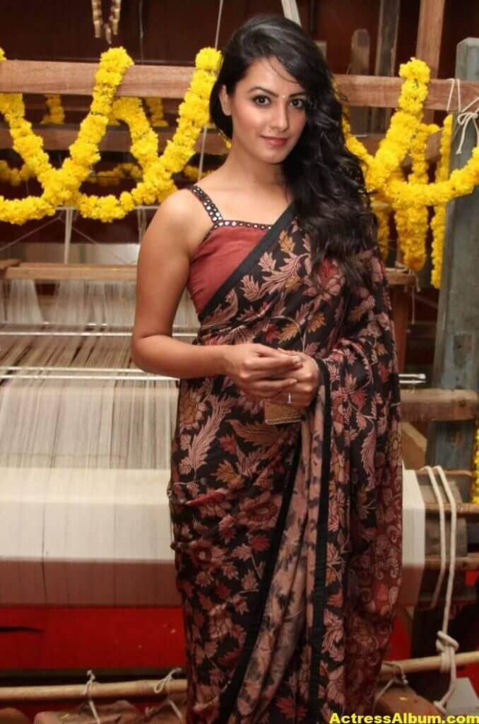Actress Anita Hot Photos In Black Saree (1)