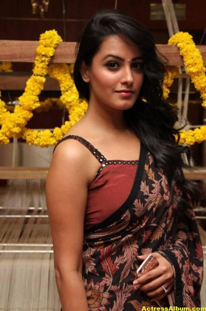 Actress Anita Hot Photos In Black Saree (3)