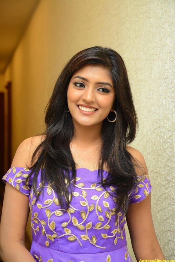 Actress Eesha Pics In Purple Dress