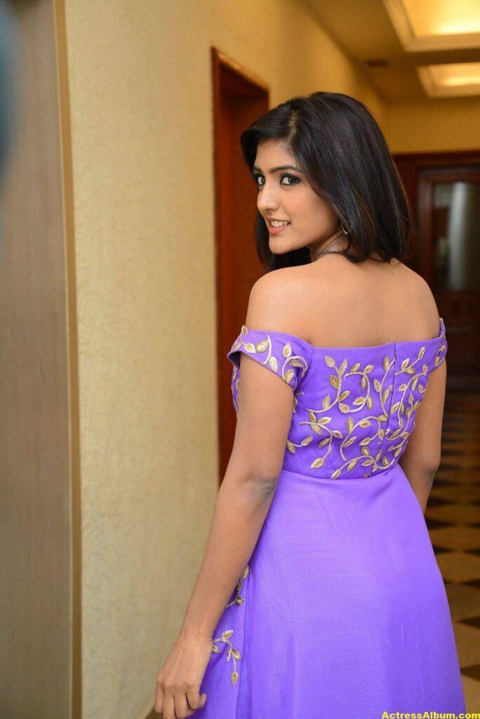 Actress Eesha Pics In Purple Dress 2