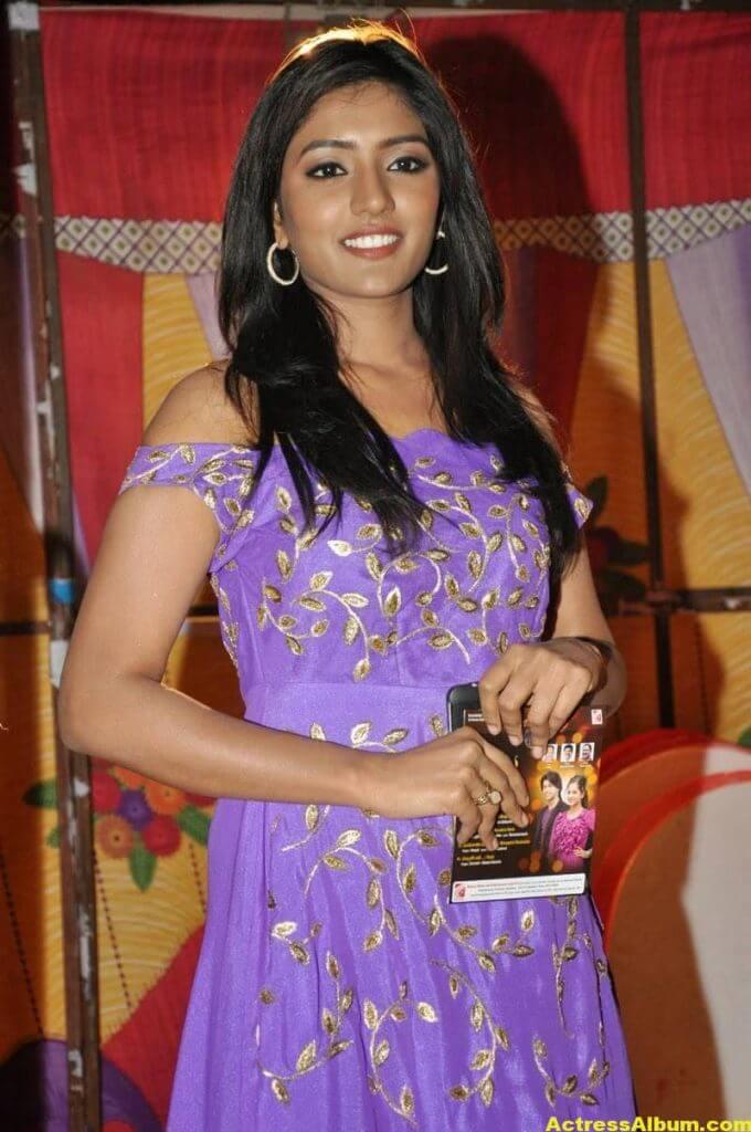 Actress Eesha Pics In Purple Dress 3