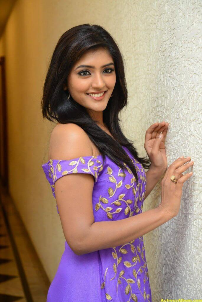 Actress Eesha Pics In Purple Dress 4