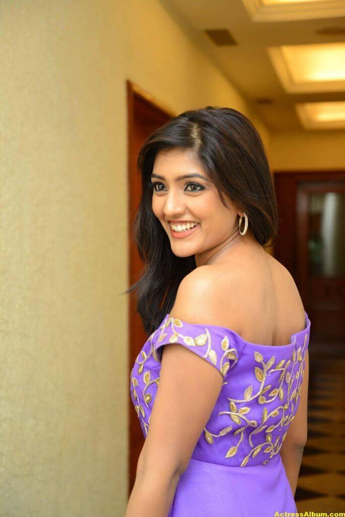 Actress Eesha Pics In Purple Dress 5