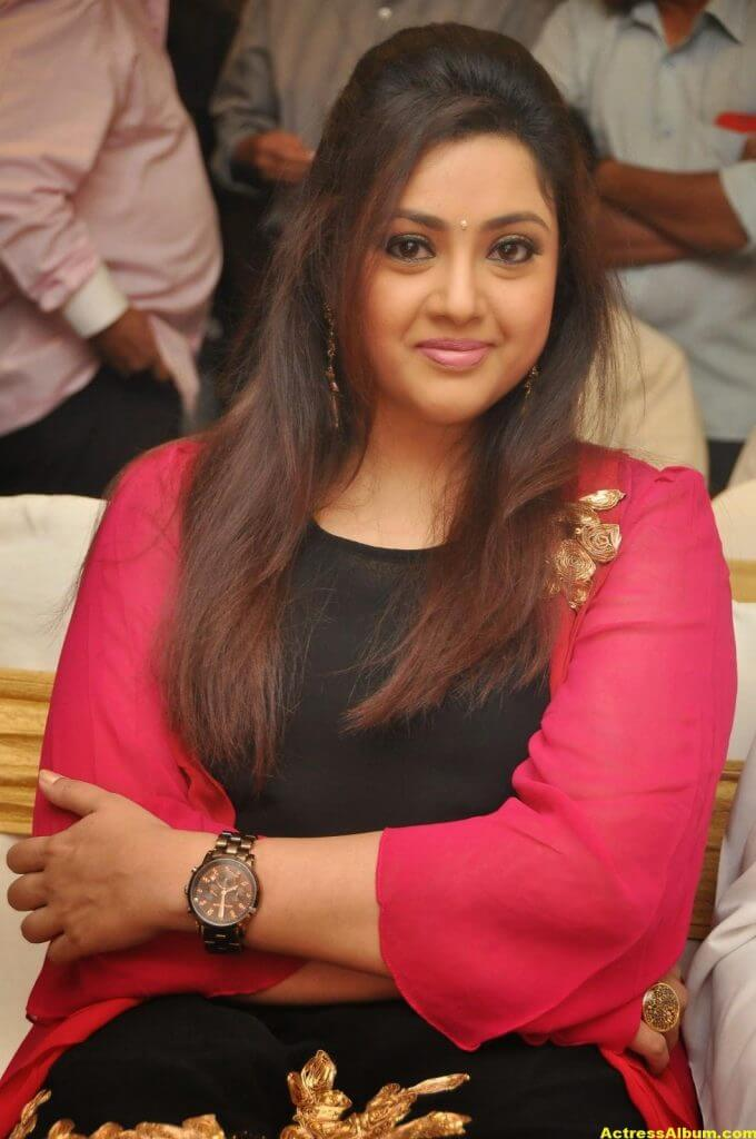 Actress Meena Photos In Black Dress 3