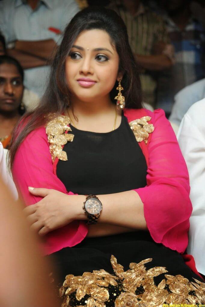 Actress Meena Photos In Black Dress 4