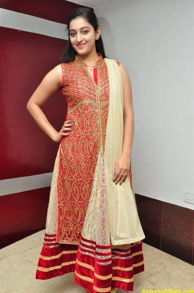 Actress Mouryaani Photos In Red Dress 1