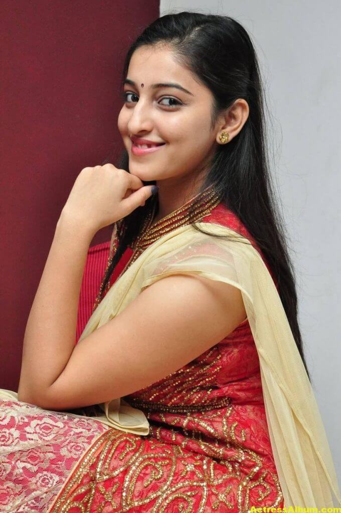 Actress Mouryaani Photos In Red Dress 2