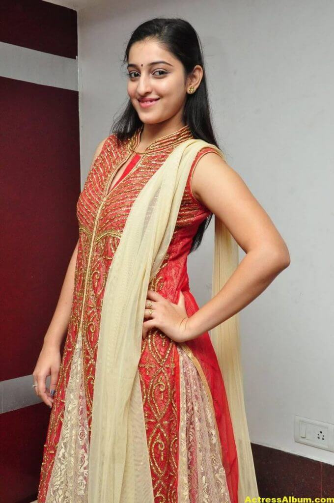 Actress Mouryaani Photos In Red Dress 3