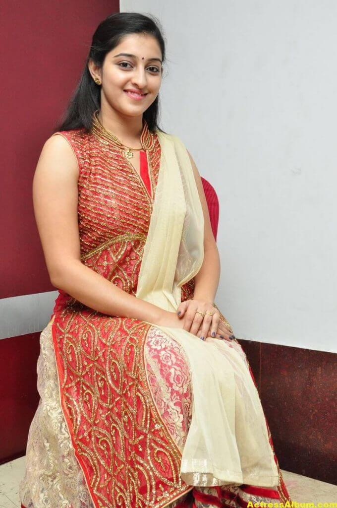 Actress Mouryaani Photos In Red Dress 4