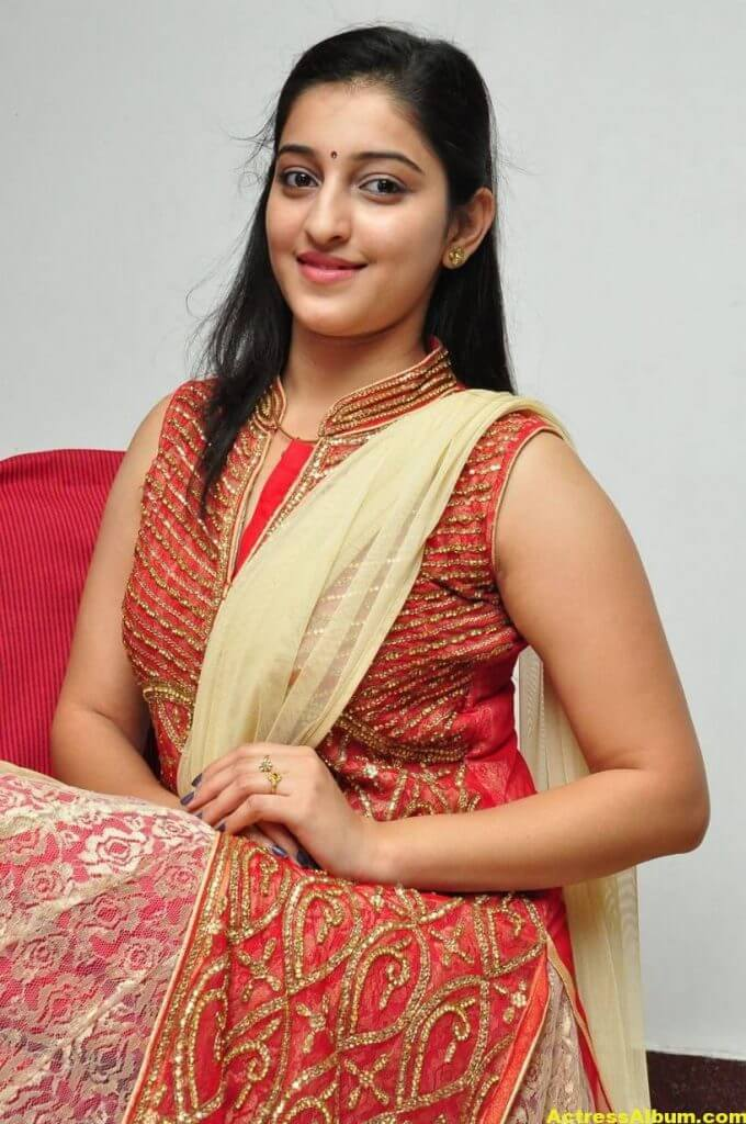 Actress Mouryaani Photos In Red Dress 6