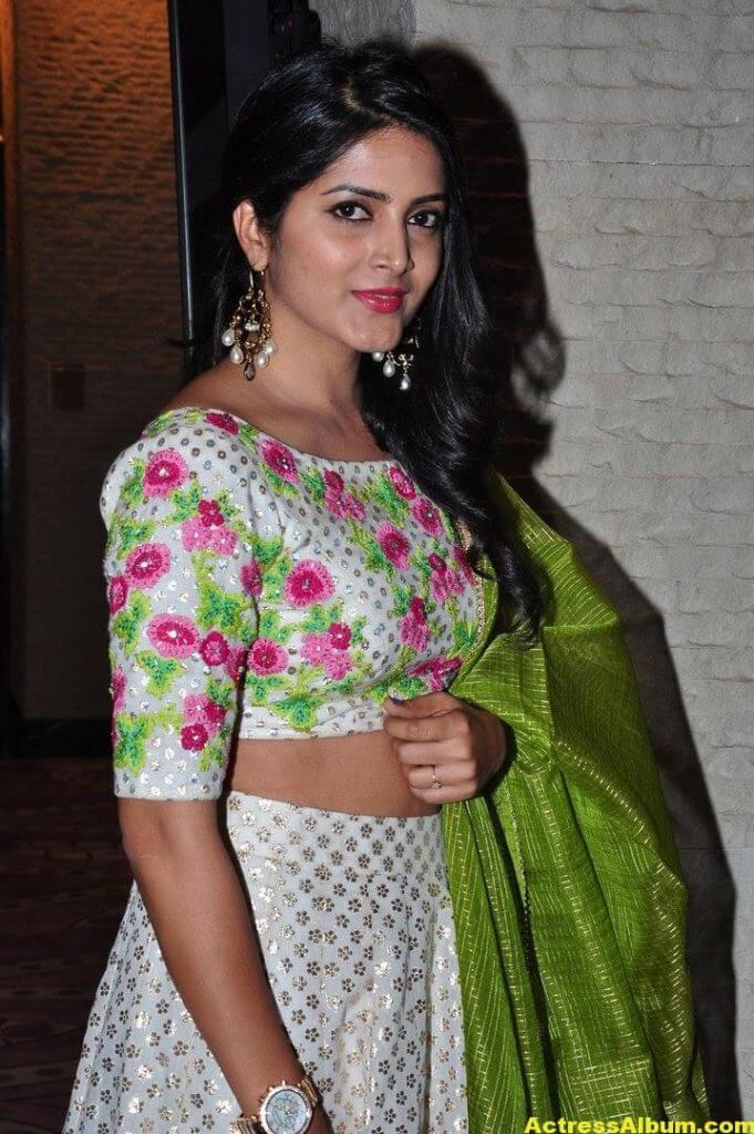Pavani Gangireddy In Green Dress