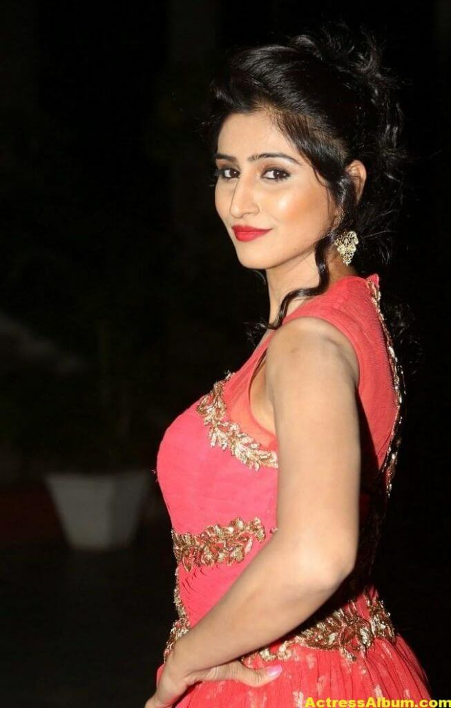 Actress Shamili Hot Photos In Orange Dress 1