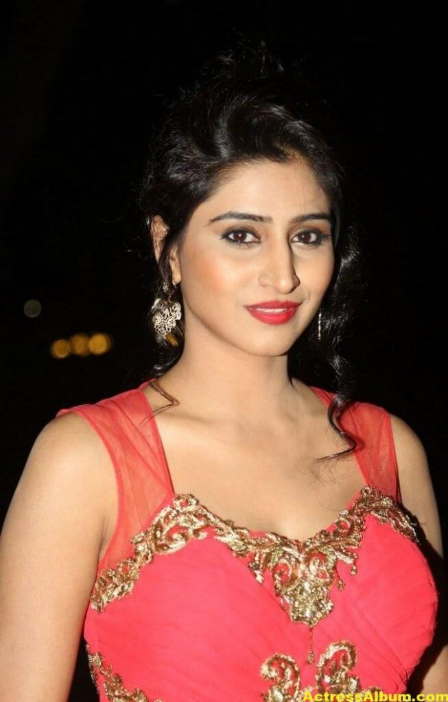 Actress Shamili Hot Photos In Orange Dress 3