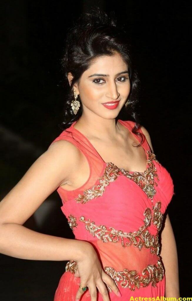 Actress Shamili Hot Photos In Orange Dress 4