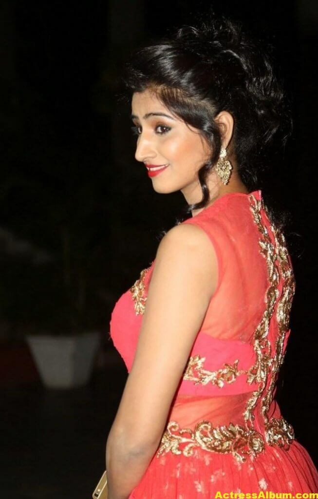 Actress Shamili Hot Photos In Orange Dress 5