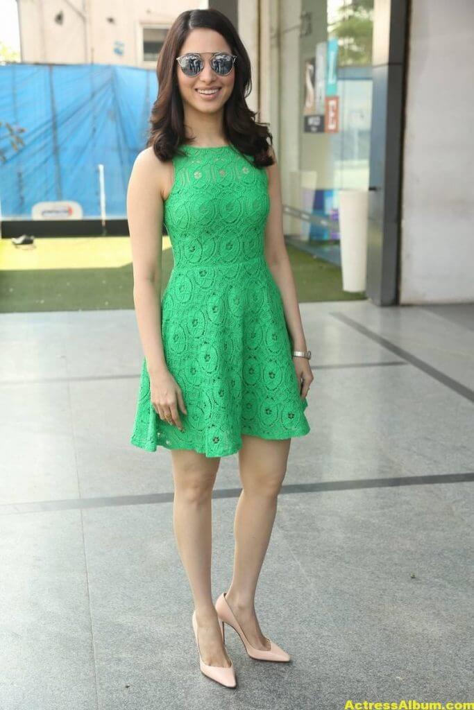 Actress Tamanna Hot Photos In Green Dress 1