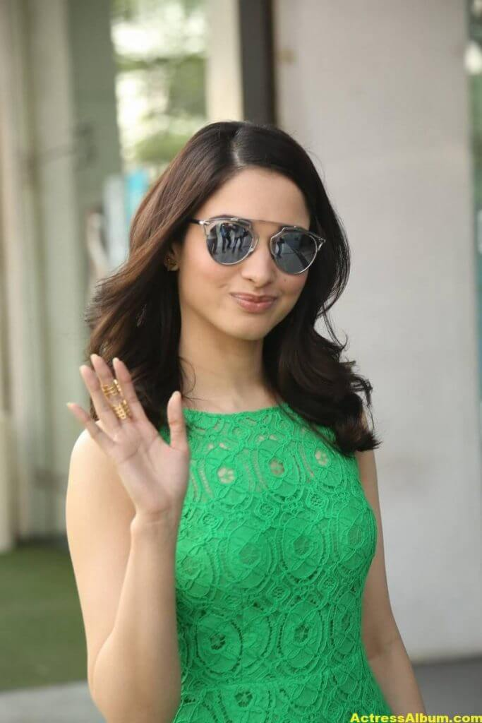 Actress Tamanna Hot Photos In Green Dress 2