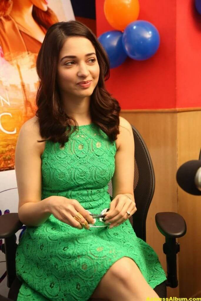 Actress Tamanna Hot Photos In Green Dress 3