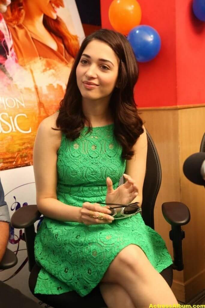 Actress Tamanna In Green Dress