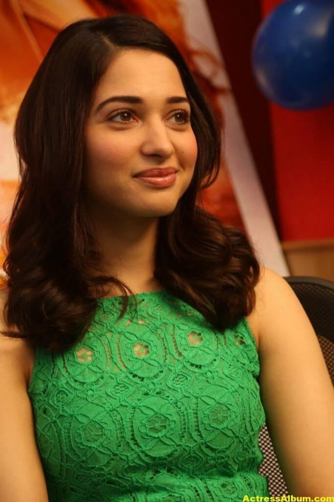 Actress Tamanna Hot Photos In Green Dress 5