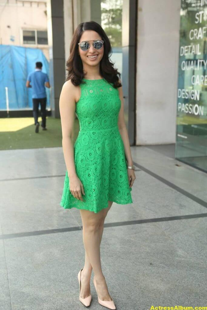 Actress Tamanna Hot Photos In Green Dress 6