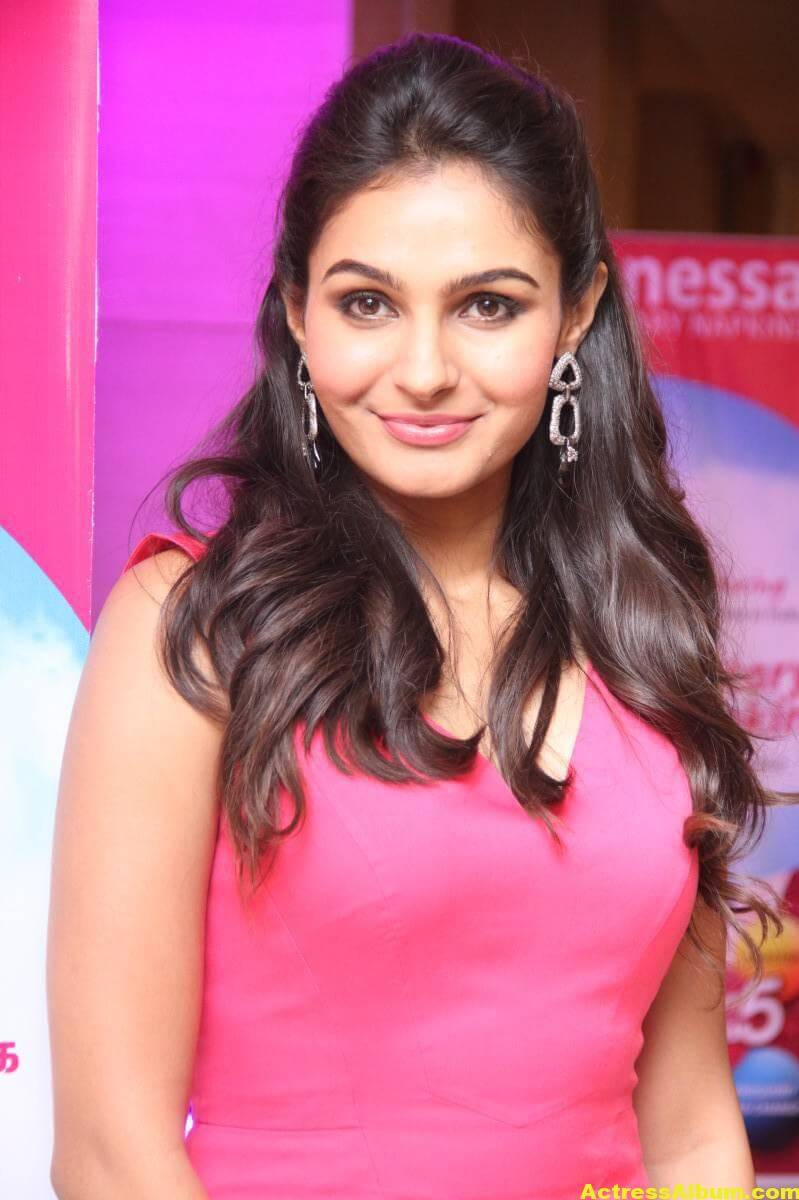 Andrea Jeremiah Latest Cute Beautiful Photos In Pink Dress 1