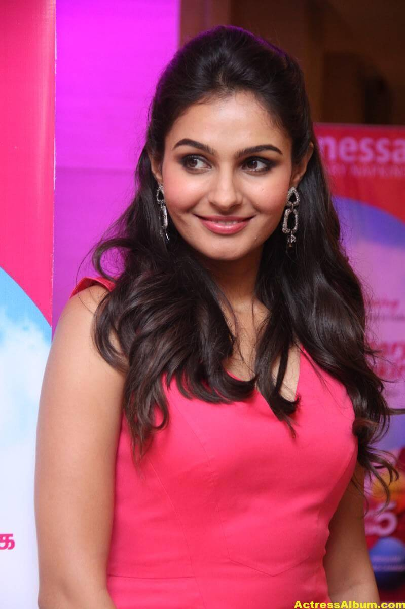 Andrea Jeremiah In Pink Dress