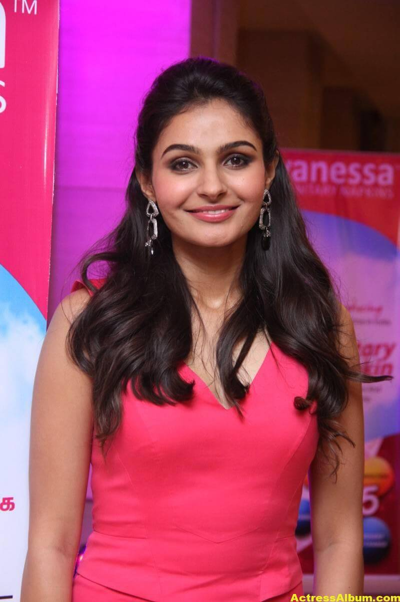 Andrea Jeremiah At Vanessa Sanitary Napkins Launch