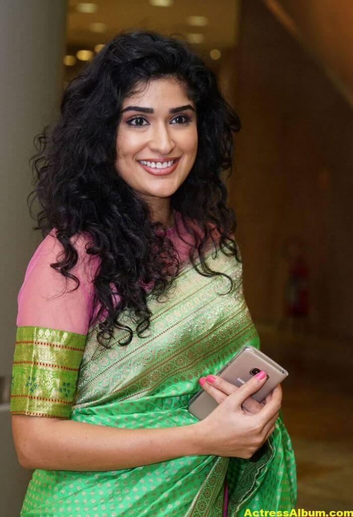 Anjala Zaveri Hot Photos In Green Saree (4)