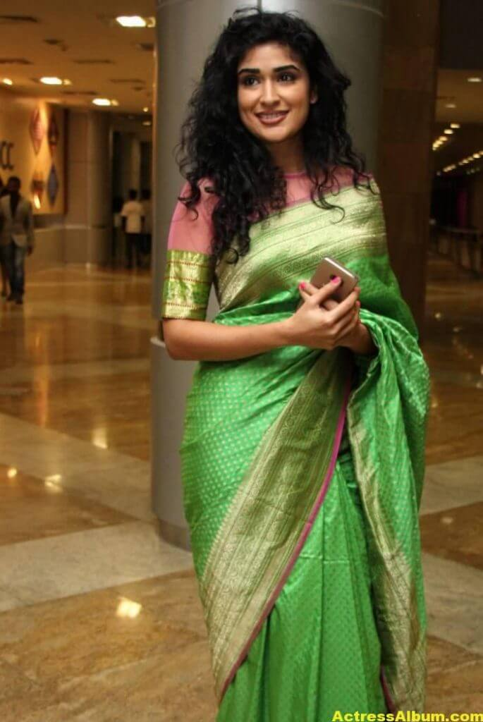 Anjala Zaveri Hot Photos In Green Saree (5)