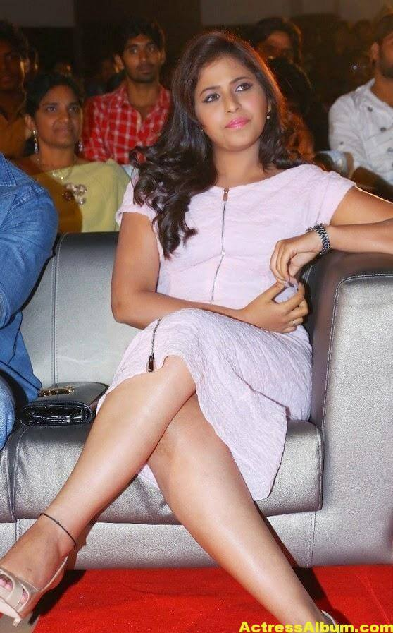 Anjali Hot Thigh Show Photos In White Dress (5)