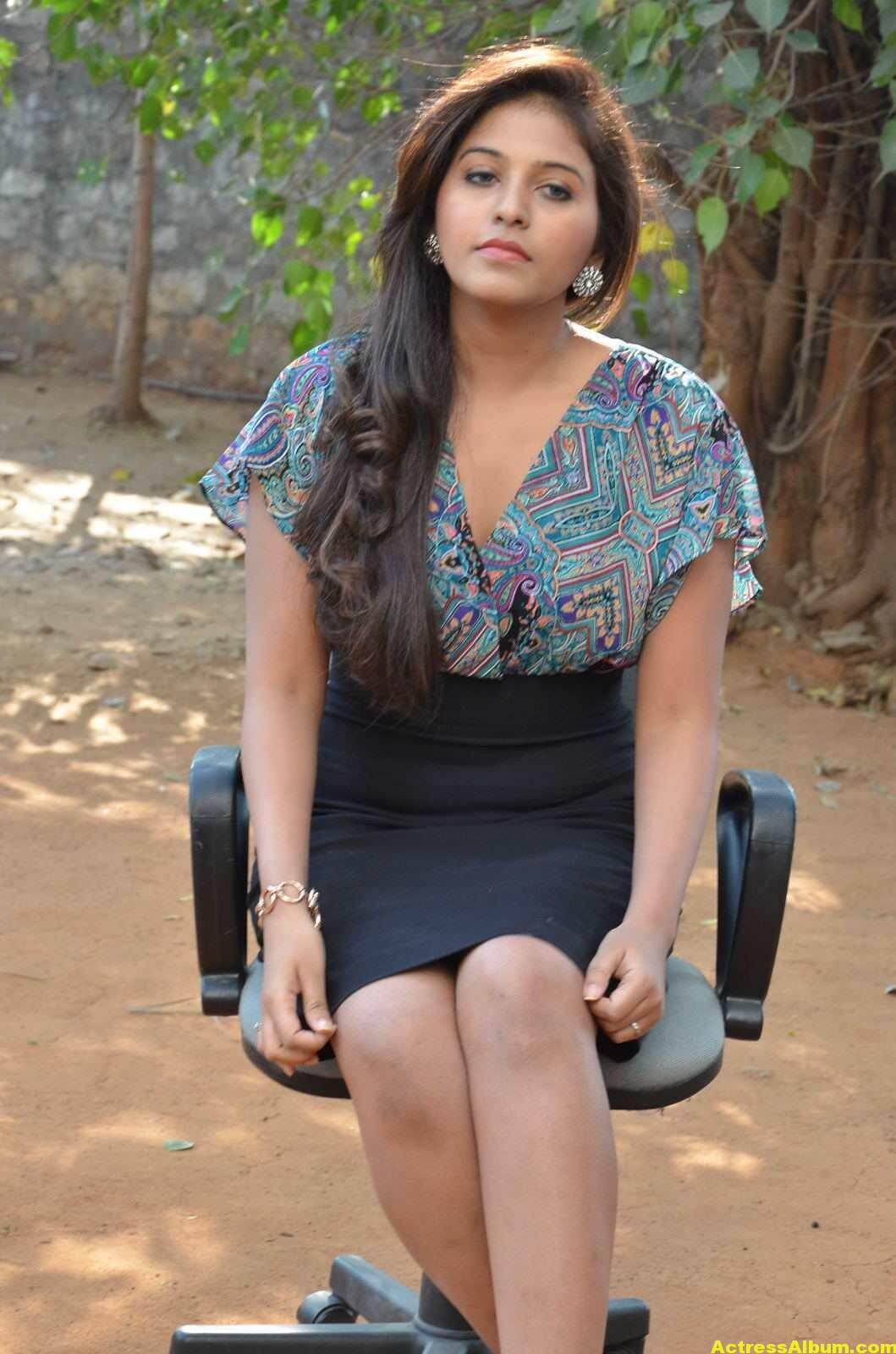 Anjali Latest Photos In Blue Dress  3