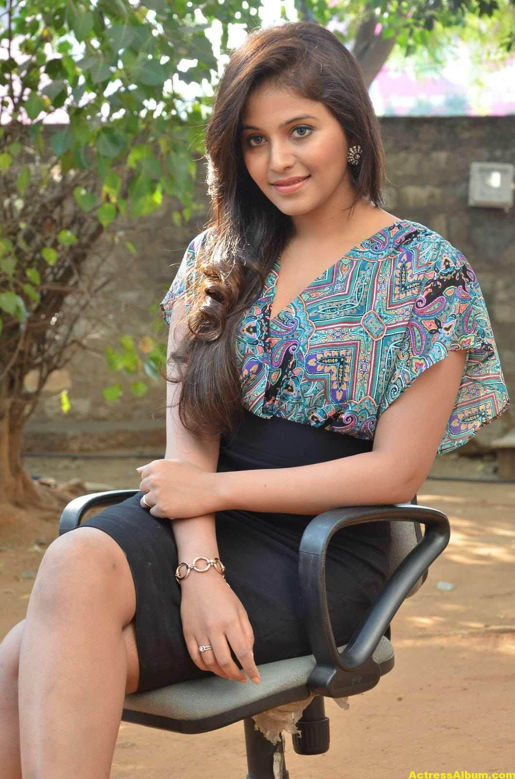 Anjali Latest Photos In Blue Dress  7
