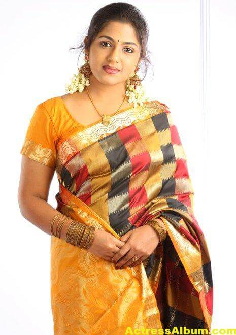 Anjana Haridas Hot Navel Show Photos In Yellow Saree (4)