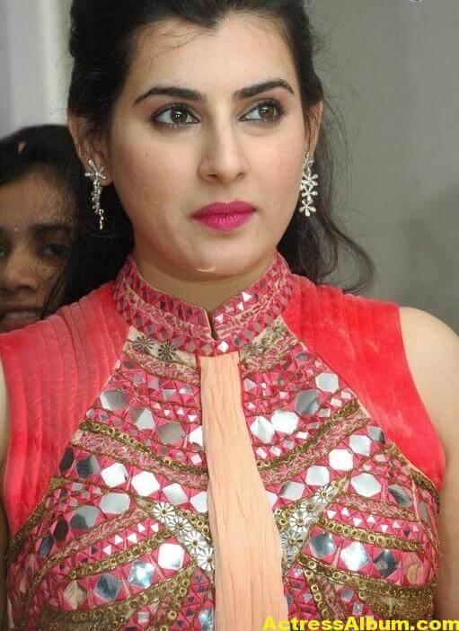 Archana New Beautiful Red Dress Stills 1