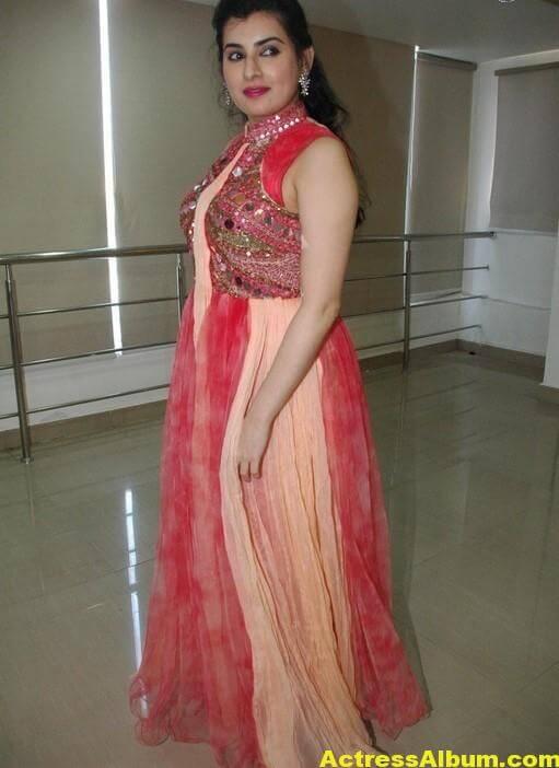 Archana New Beautiful Red Dress Stills 2