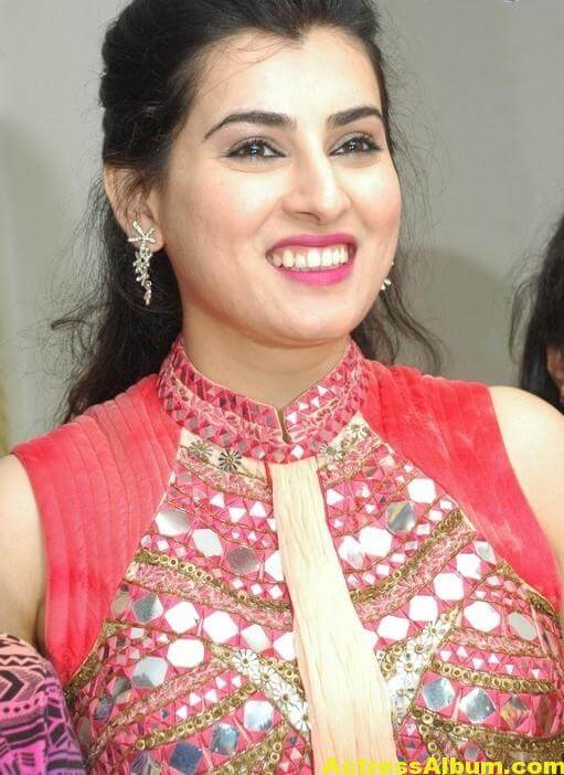 Archana New Beautiful Red Dress Stills 3