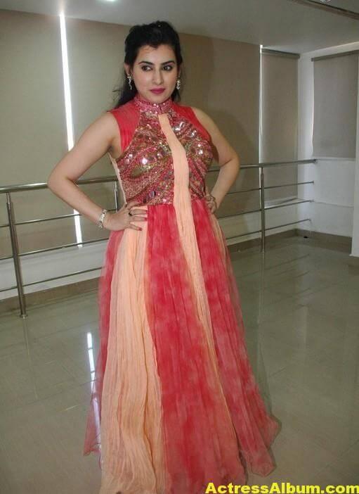 Archana New Beautiful Red Dress Stills 5