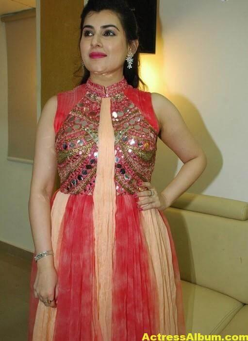 Archana New Beautiful Red Dress Stills 6
