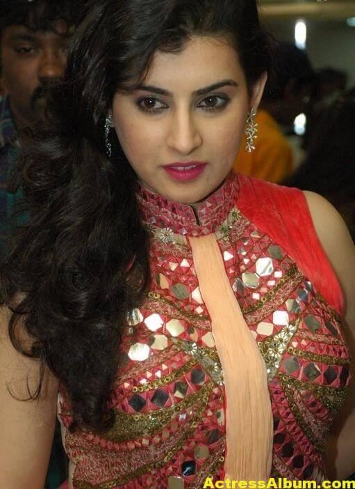 Archana New Beautiful Red Dress Stills 7