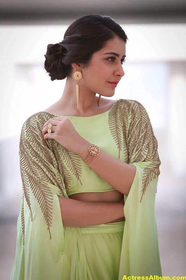 Beautiful Photoshoot Of Rashi Khanna In Green Dress