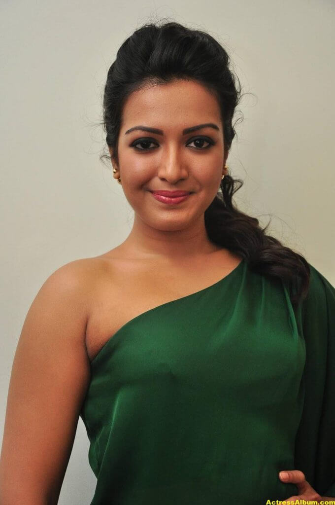Catherine Tresa Latest Hot Photos In Green Dress 2